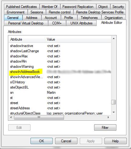 address1 Exchange 2010 SP1 address lists not displaying correctly