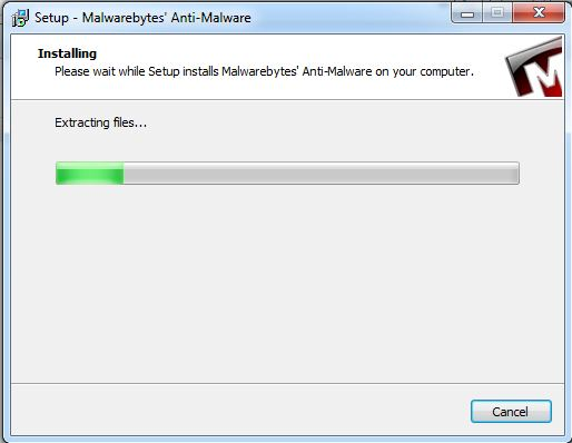 Installing and Running Malwarebytes to Remove Infection