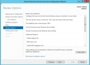 dcpromo19-300x217 Windows 8 Server Beta Active Directory ADDS Installation