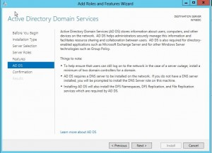 dcpromo8-300x217 Windows 8 Server Beta Active Directory ADDS Installation