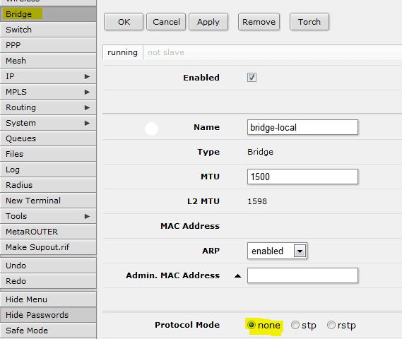 Mikrotik For Loop
