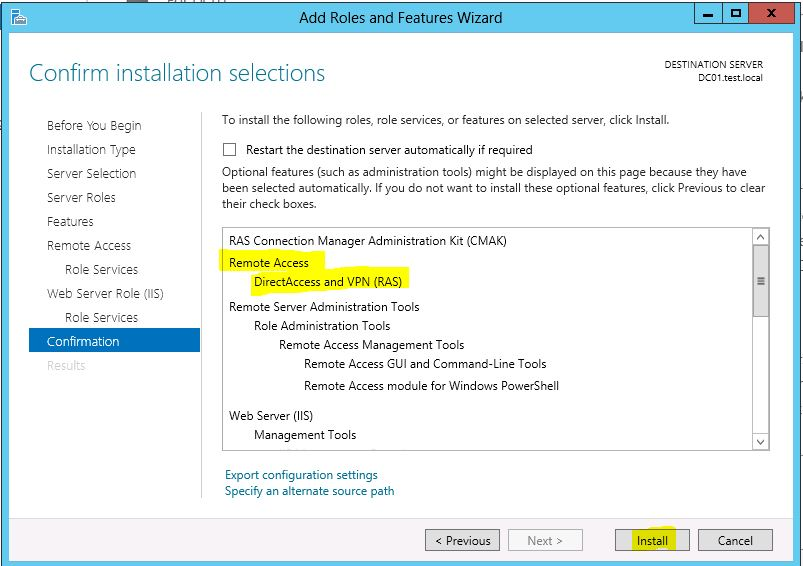How to configure and setup Windows 2012 VPN - Virtualization