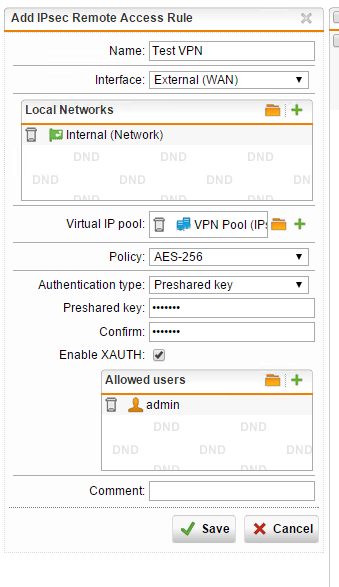 How to connect Shrew Soft VPN client to Sophos IPsec VPN