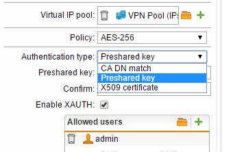 How to connect Shrew Soft VPN client to Sophos IPsec VPN
