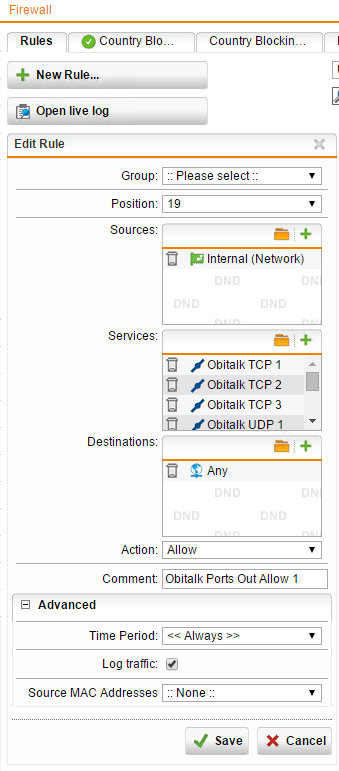 Sophos UTM configuration for Obi - Virtualization Howto