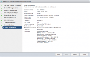 vcsa6_23-300x192 Lab Deploy VCSA with Embedded Platform Services Controller