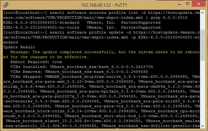 patch esxi via command line