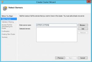 hyper-vcluster02-300x202 Setup a Hyper-V Cluster Lab in VMware Workstation