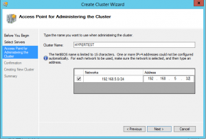 hyper-vcluster04-300x203 Setup a Hyper-V Cluster Lab in VMware Workstation