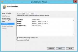 hyper-vcluster05-300x202 Setup a Hyper-V Cluster Lab in VMware Workstation