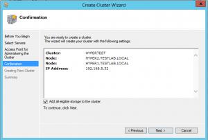 hyper-vcluster05-300x202 Setup a Hyper-V Cluster Lab in VMware Workstation