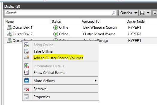 Setup a Hyper-V Cluster Lab in VMware Workstation