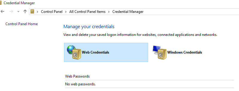 Can't get rid of cached credentials Internet Explorer