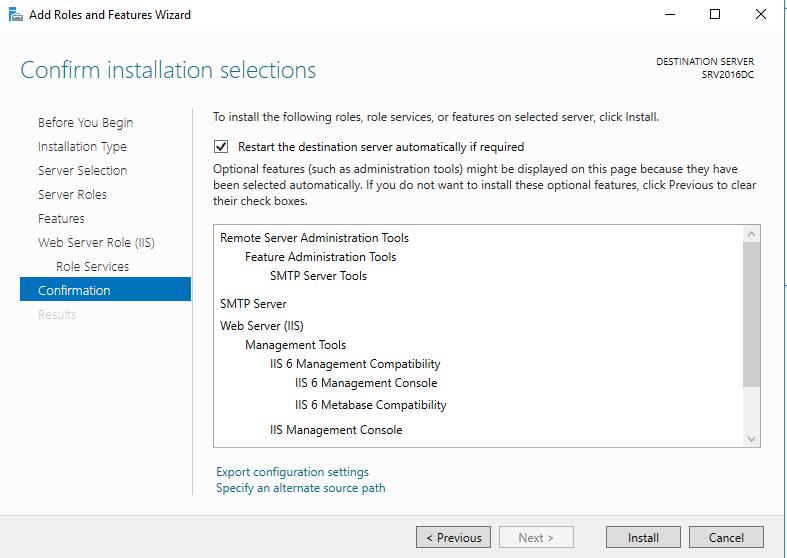 Add SMTP Windows Server 2016 - Virtualization Howto