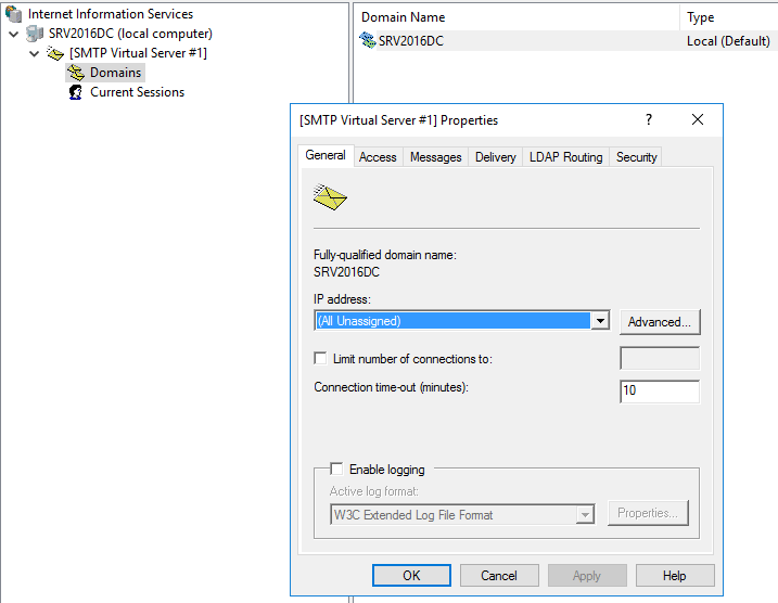 Add SMTP Windows Server 2016 - Virtualization Howto