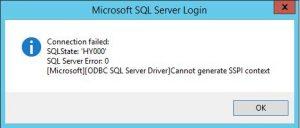sspi01-300x128 SQL Server Cannot generate SSPI context Multiple Domains