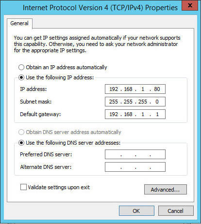Force the primary outgoing IP address Windows Server 2012 R2
