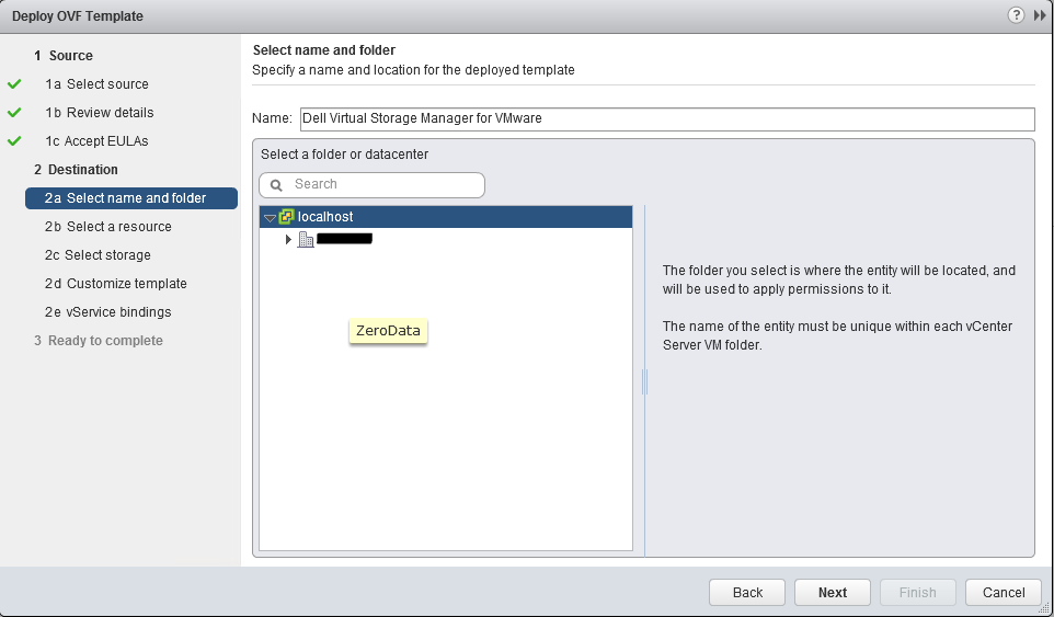 Deploy Dell Virtual Storage Manager 4 5 2 in vCenter
