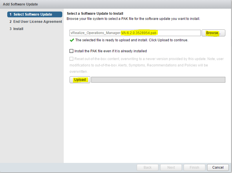 vrops_update15 Upgrade VMware vRealize Operations Manager vROPs 6.2