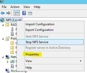 npslog01 Windows 2012 R2 NPS log files location configuration