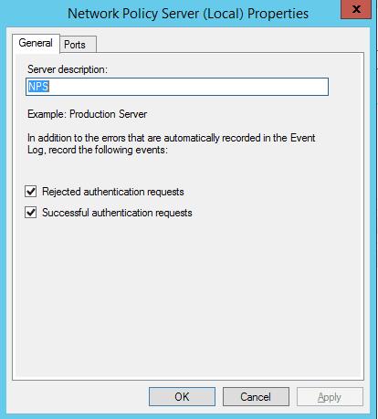 npslog02 Windows 2012 R2 NPS log files location configuration