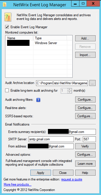 elogmgr01 Get notified of failed Windows login attempts