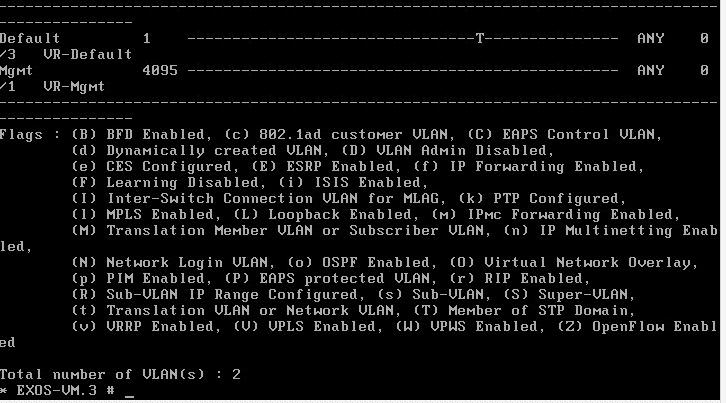 exosvirt21 Virtual Extreme EXOS install and configuration
