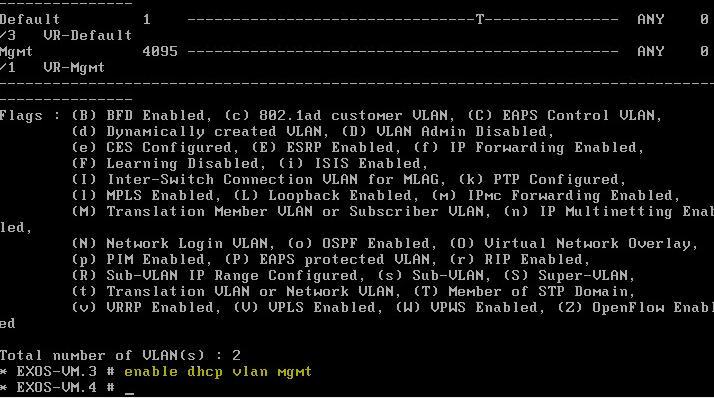 exosvirt22 Virtual Extreme EXOS install and configuration