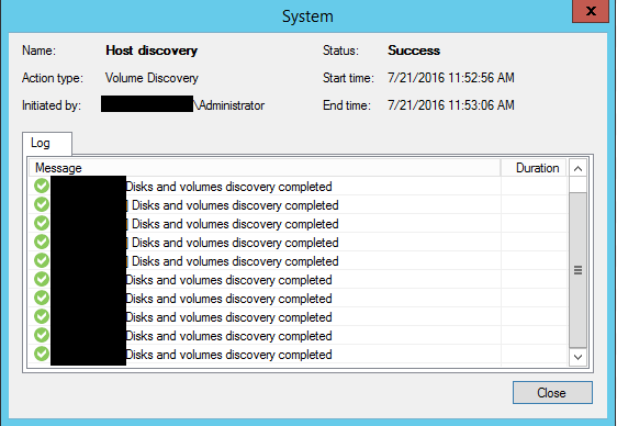 Veeam the object has already been deleted or has not been completely