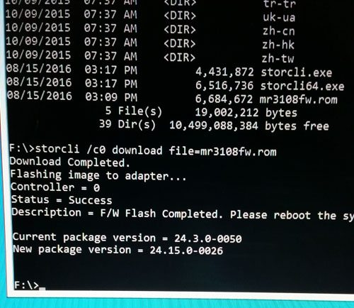 storcli02 How to flash Avago LSI RAID controller firmware with boot disk