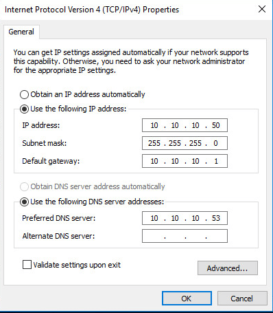 win10nonet02 Windows 10 static address shows 169 address