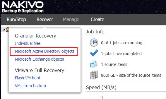 nbr_ad03 Nakivo 6.1 Backup and Restore Active Directory