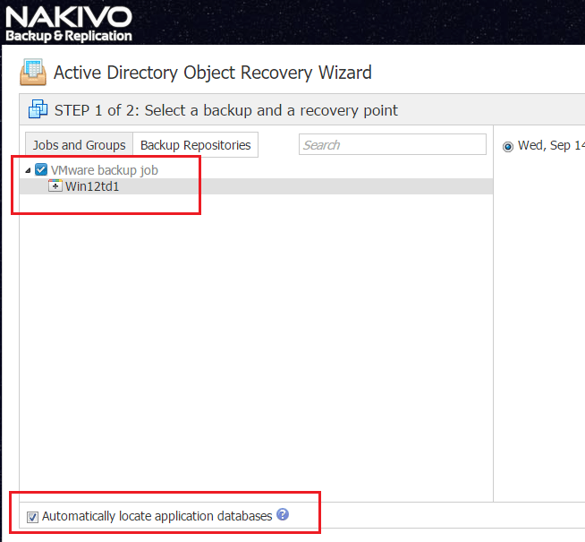 nbr_ad04 Nakivo 6.1 Backup and Restore Active Directory