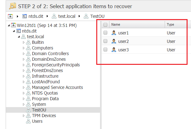 nbr_ad08 Nakivo 6.1 Backup and Restore Active Directory