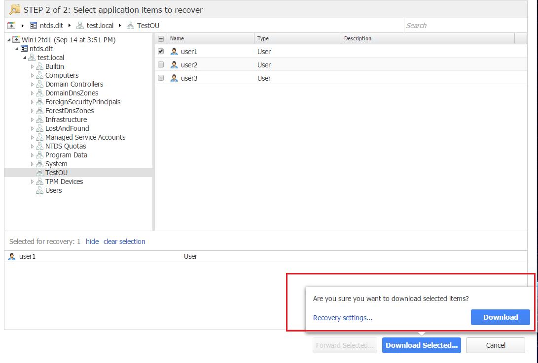 nbr_ad09 Nakivo 6.1 Backup and Restore Active Directory