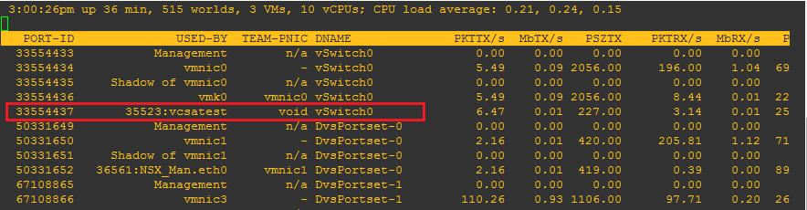 unused03 ESXTOP troubleshoot VM network connectivity