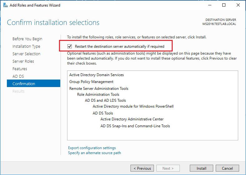 adds2016_05 Prepare Active Directory Windows Server 2016 DC Adprep