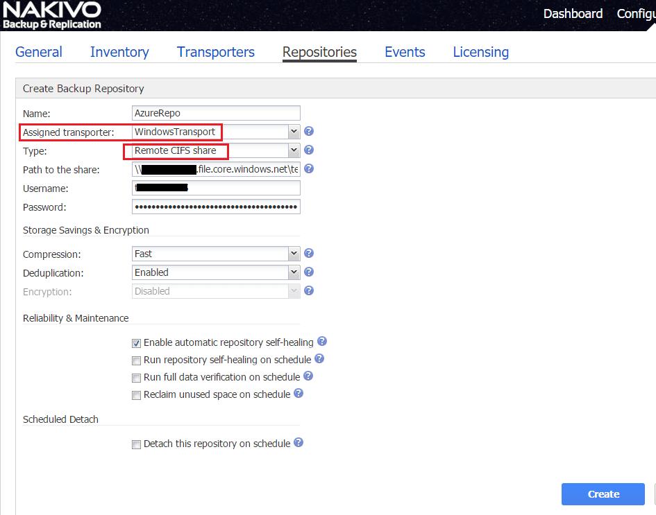 nakaz14 Nakivo Backup & Replication Backup to Azure