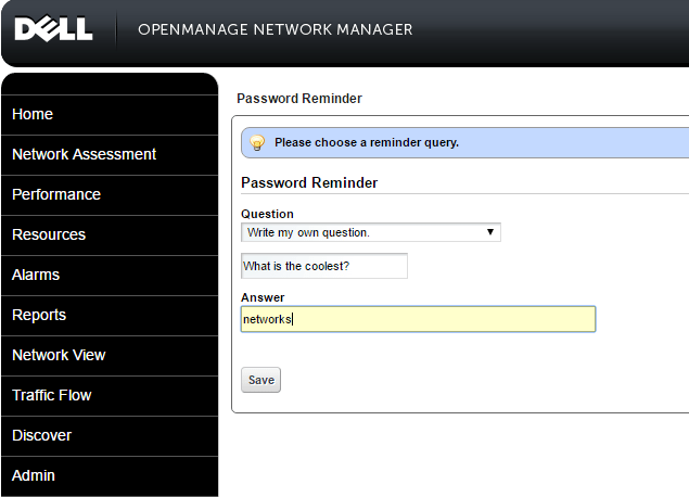 omnm11 Dell Openmanage Network Manager 6.2 Appliance Install and Configure