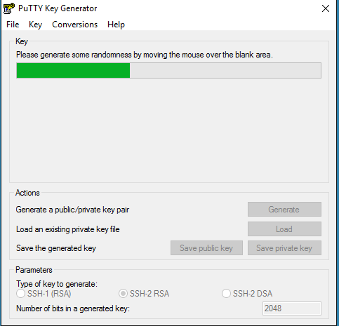 puttygen02 Setup Azure Linux Public Key Authentication