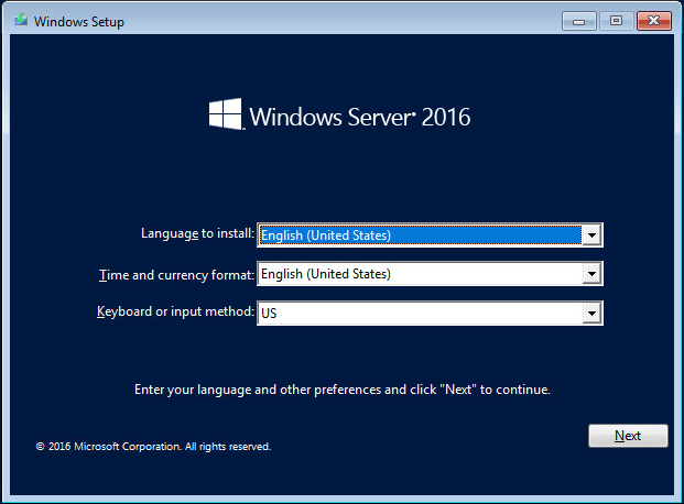 ws201609 Windows Server 2016 RTM Installation and Configuration