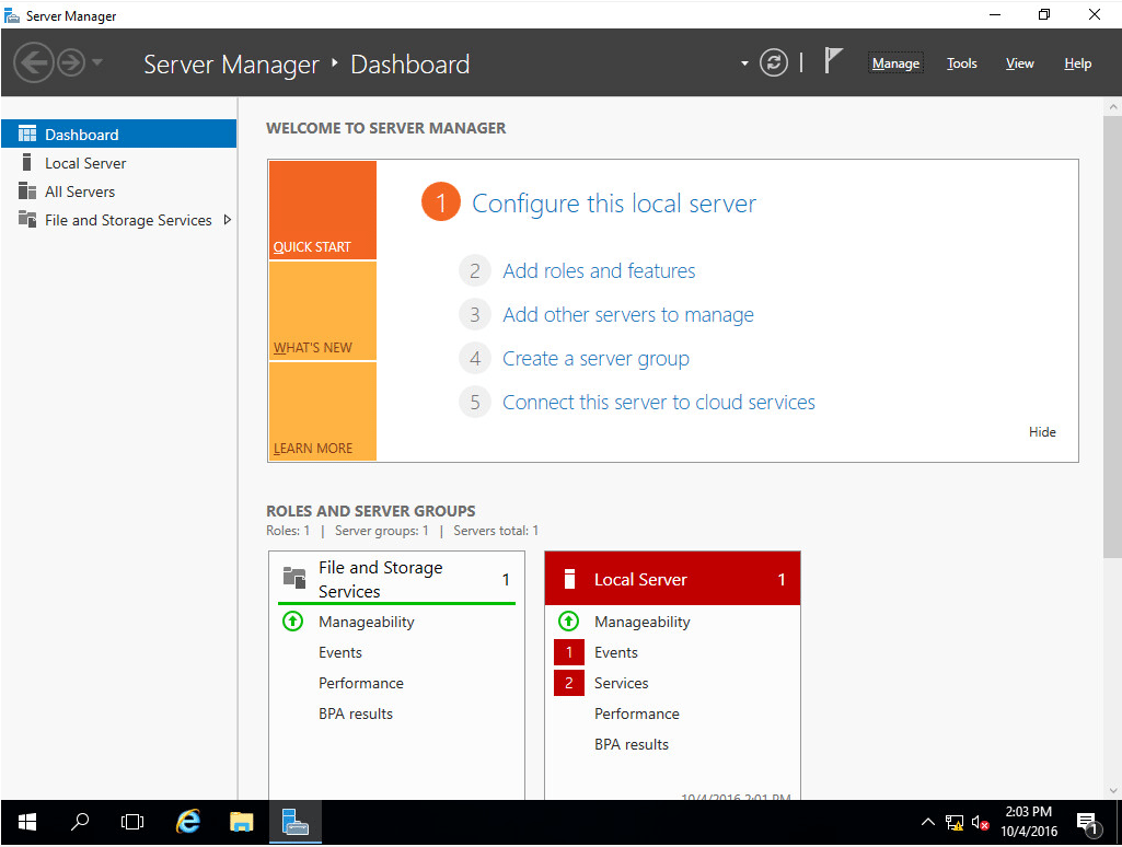 ws201618 Windows Server 2016 RTM Installation and Configuration