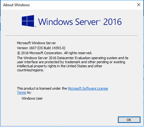 ws201620 Windows Server 2016 RTM Installation and Configuration