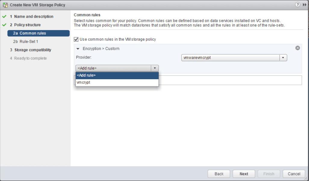 encrypt14 VMware vSphere 6.5 Configure Encrypted VMs