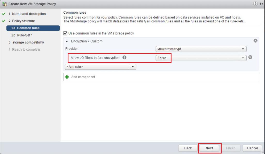 encrypt15 VMware vSphere 6.5 Configure Encrypted VMs