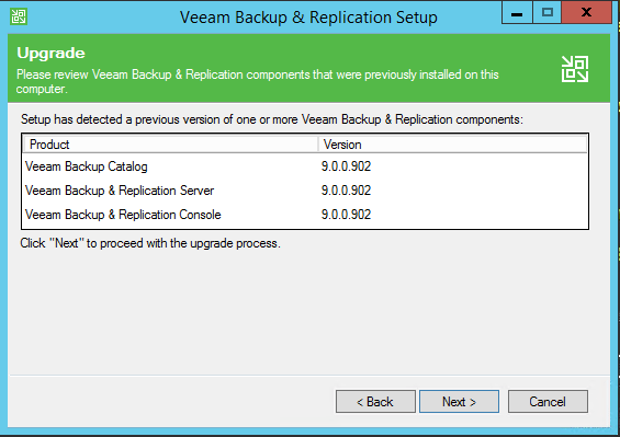 v95up03 Upgrade Veeam Backup and Replication 9.0 to 9.5