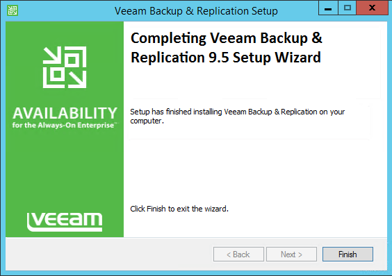v95up15 Upgrade Veeam Backup and Replication 9.0 to 9.5