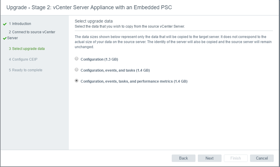 vc65up22 Upgrade VMware vCenter VCSA appliance 6.0 to 6.5