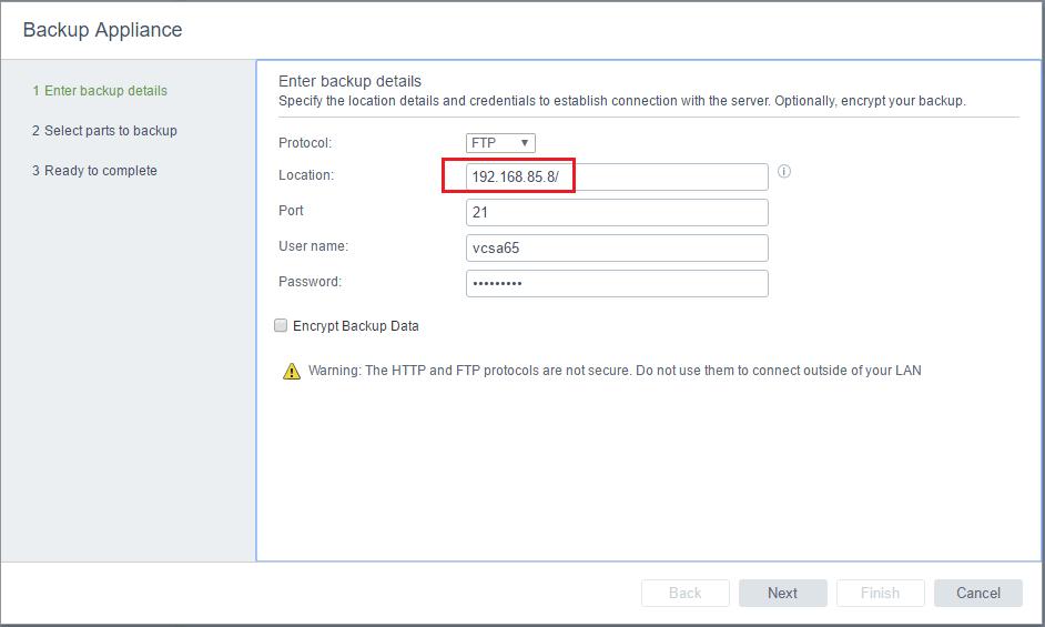 vcsa65bak02 New VMware VCSA 6.5 Appliance Backup