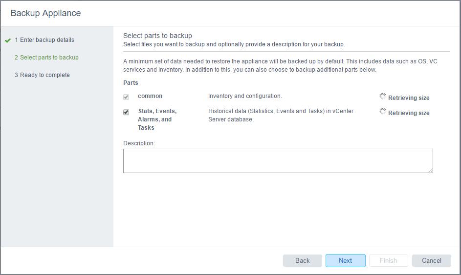 vcsa65bak03 New VMware VCSA 6.5 Appliance Backup